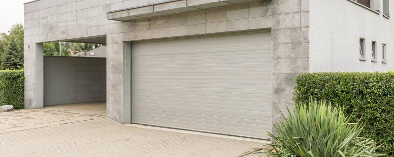 Garage in big house